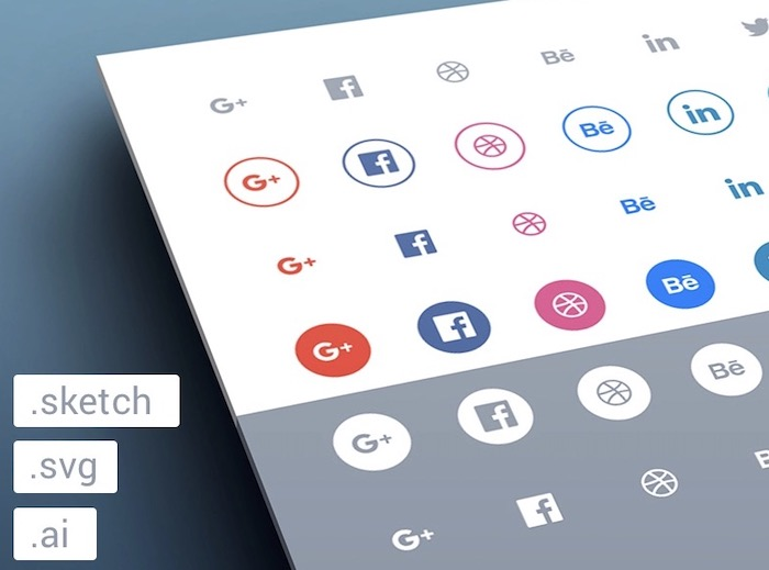 pack d'icones réseaux sociaux gratuit