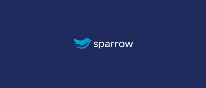 sparrow logo flat design