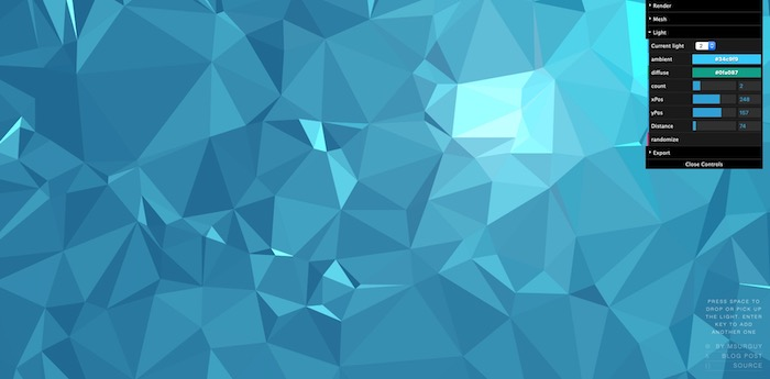 background triangles