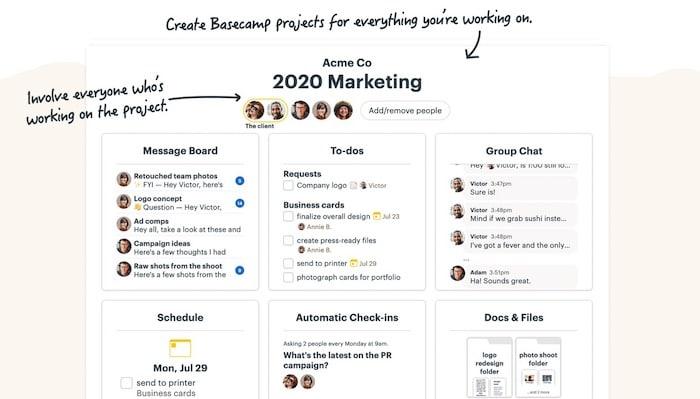 Basecamp logiciel gestion de projet