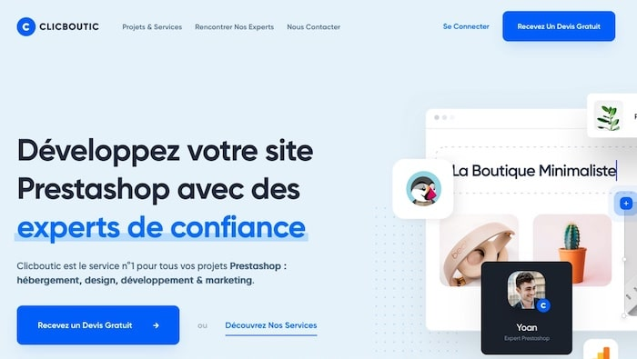 ClicBoutic, plateforme de création de site e-commerce