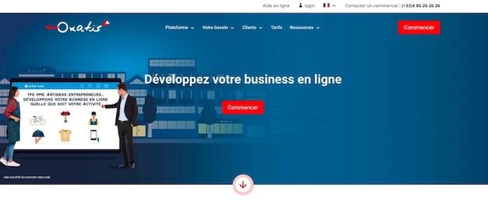 Oxatis, plateforme pour créer un site e-commerce gratuit