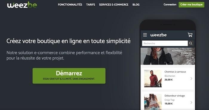 Weezbe, plateforme de création de site e-commerce