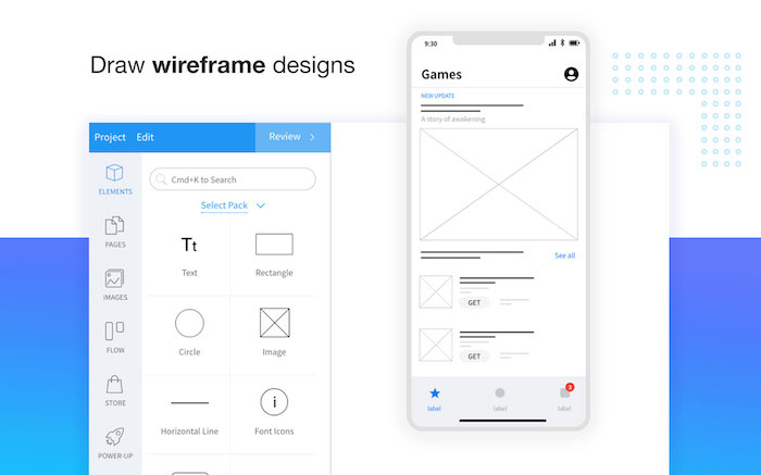 Mockflow outil wireframe