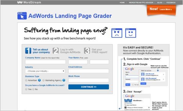 WordStream-landing-page