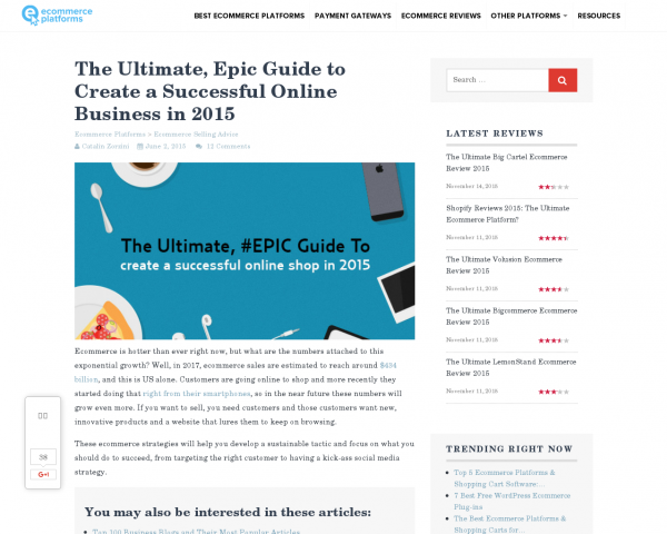 The Ultimate Guide to Create a Successful Online Shop in 2015