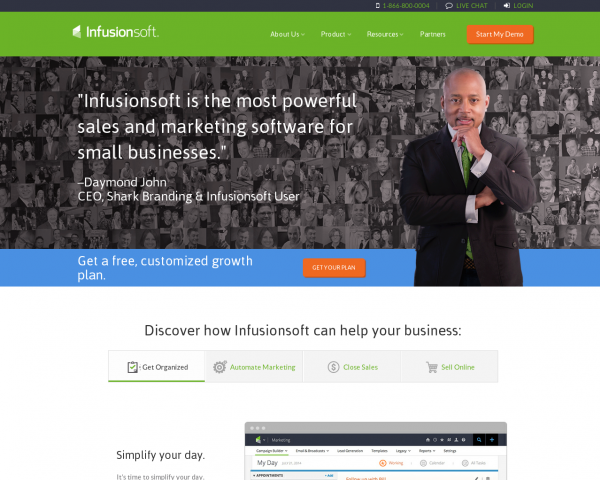 Small Business CRM | Marketing Software Small Business | Infusionsoft