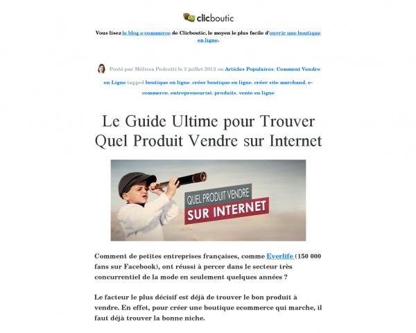 LE Guide pour Trouver Quel Produit Vendre sur Internet
