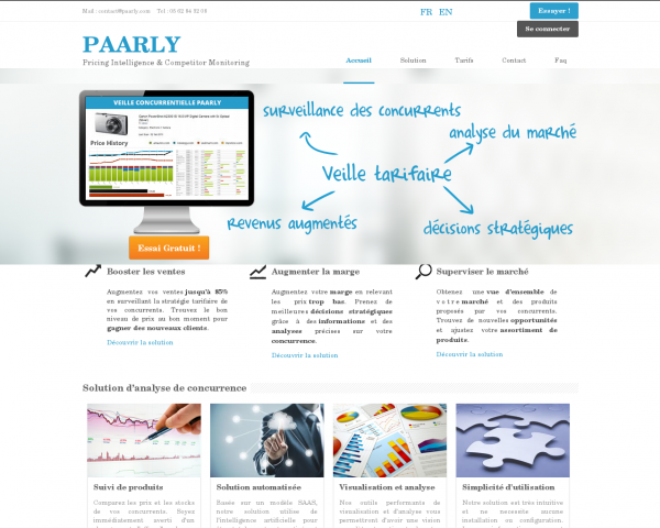 Paarly - Analyse de concurrence et veille tarifaire
