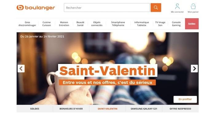 bannière Saint Valentin Boulanger