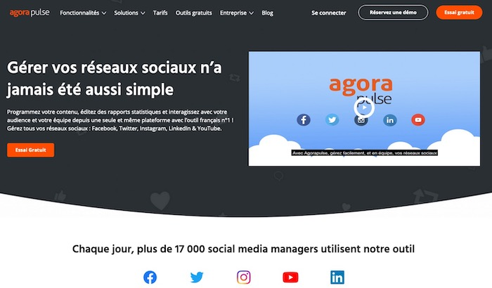 AgoraPulse outil gestion des commentaires réseaux sociaux