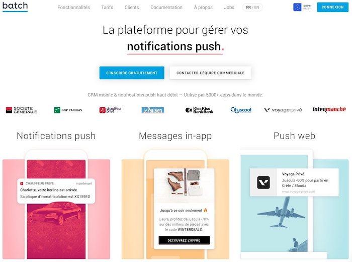batch notifications push