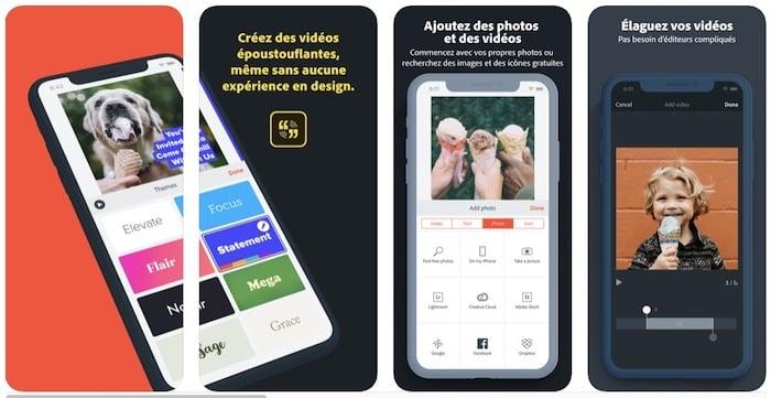 Adobe Spark Vidéo logiciel vidéo marketing