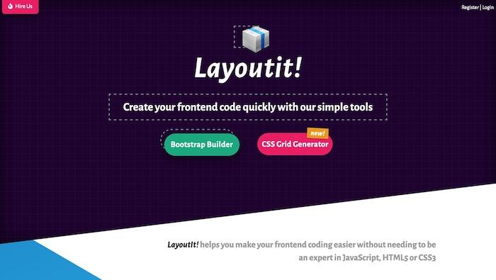 Layoutit outil création Bootstrap en ligne