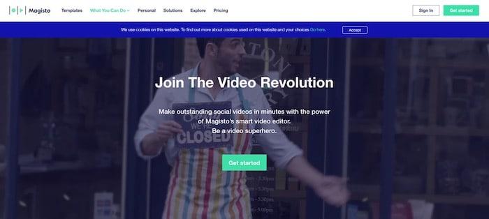 Magisto logiciel vidéo marketing