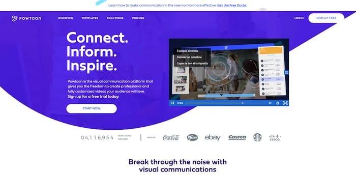 PowToon logiciel vidéo marketing