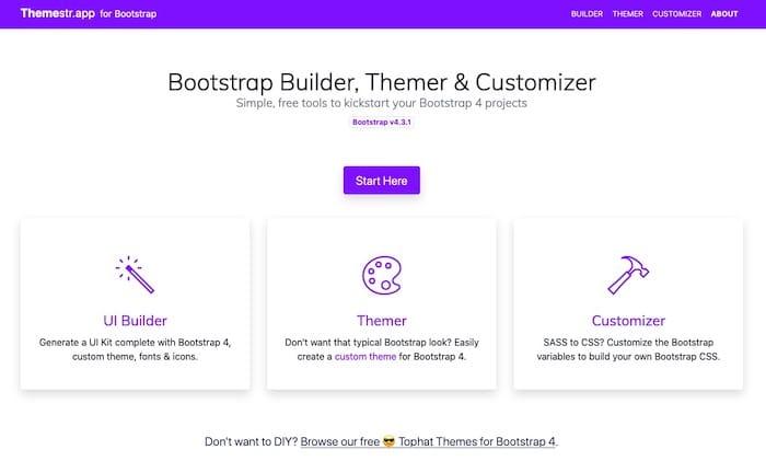 Themestr outil création thème Bootstrap gratuit