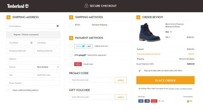 fast check out Magento