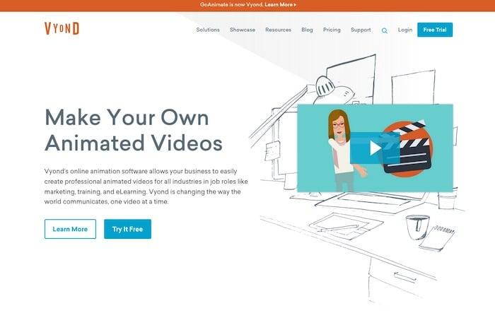Vyond logiciel vidéo marketing
