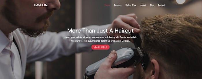 Barberz template Bootstrap gratuit coiffure