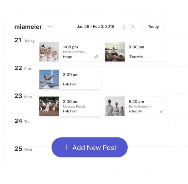 Combin planifier post Instagram