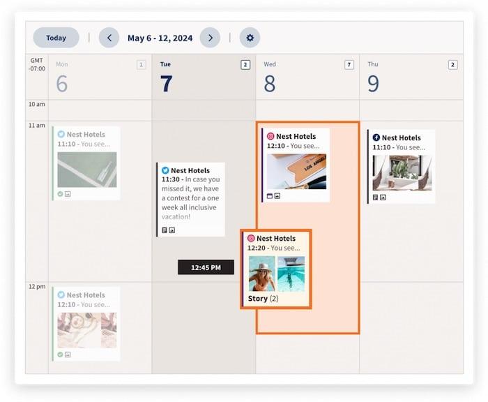 Hootsuite planifier post Instagram