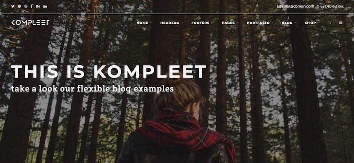 Kompleet template Bootstrap personnalisable gratuit