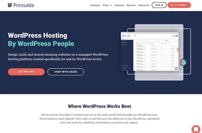 Pressable hébergeur spécialisé WordPress
