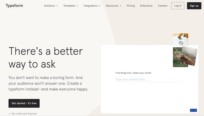 Typeform outil de création de questionnaire
