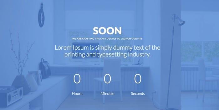 Soon template site en construction Bootstrap gratuit
