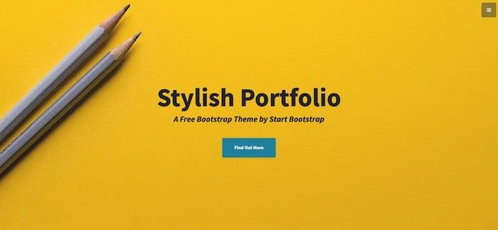 Stylish Portfolio template site Boostrap gratuit