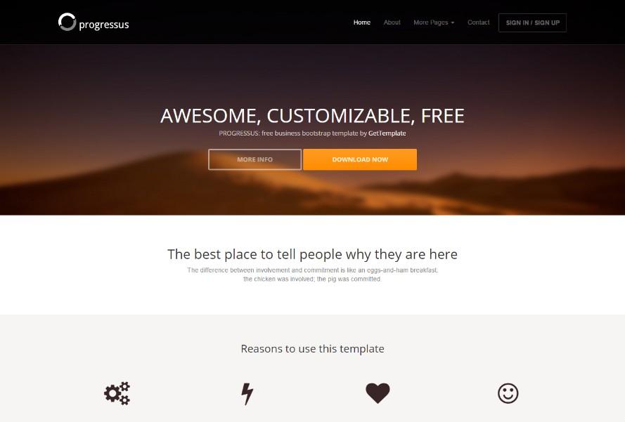 25 templates bootstrap gratuits d couvrir. Black Bedroom Furniture Sets. Home Design Ideas