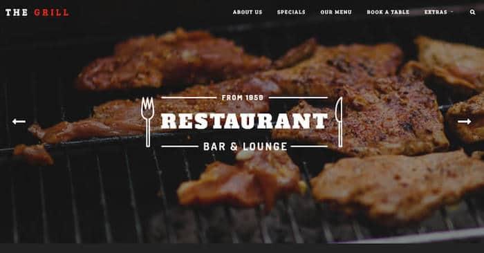TheGrill template Bootstrap gratuit restaurant