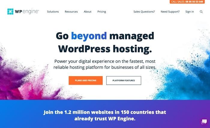 WP Engine hébergeur spécialisé WordPress