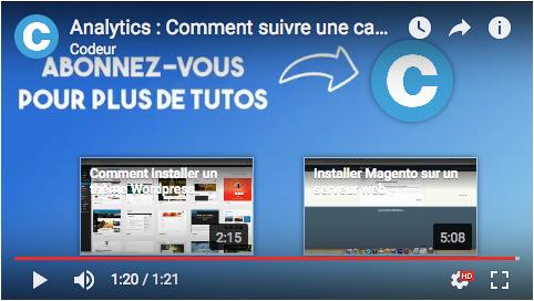 Annotations et écrans de fin Youtube