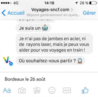 Chatbot de la SNCF