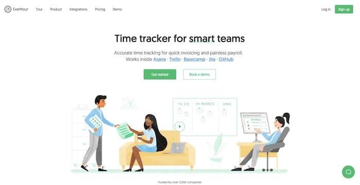 Everhour chronomètre efficacité équipes