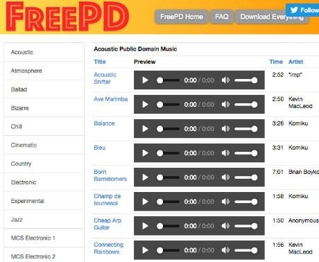 Musique dans le domaine public pour montages vidéo