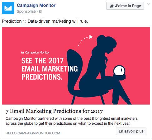 Publicité facebook campaign monitor