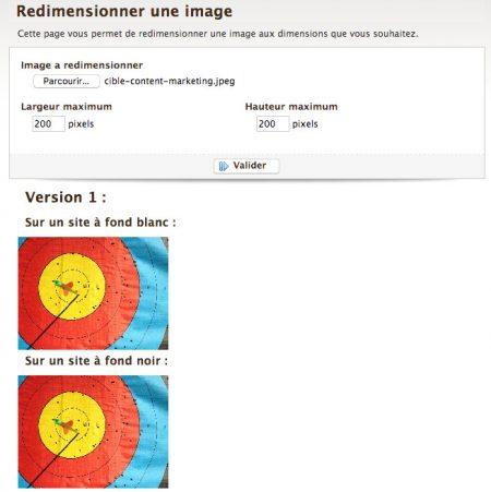 redimensionner image