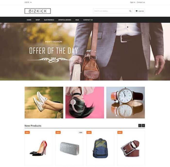BizKick template prestashop e-commerce gratuit