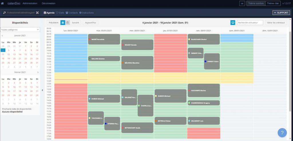 calenDoc, logiciel de prise de rendez-vous en ligne