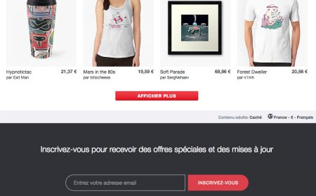Formulaire email footer ecommerce