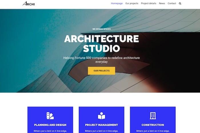 thème WordPress Architecture