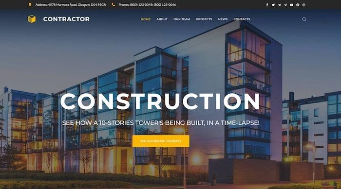 thème WordPress Construction