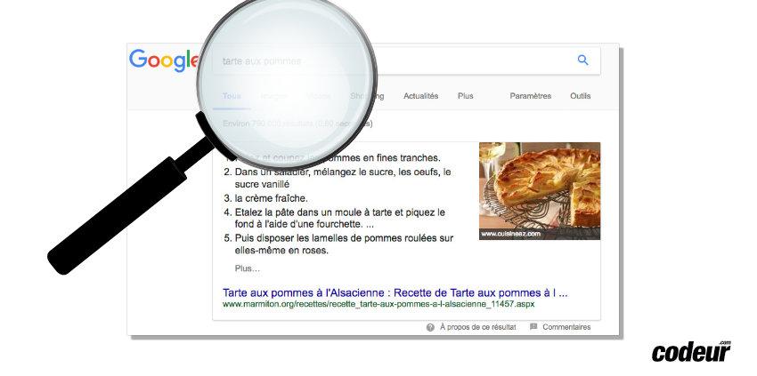 comment obtenir des snippets google ?
