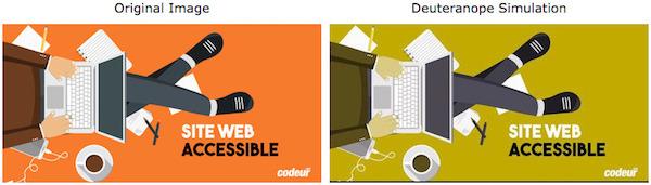 Accessibilité d'un site web pour les daltoniens