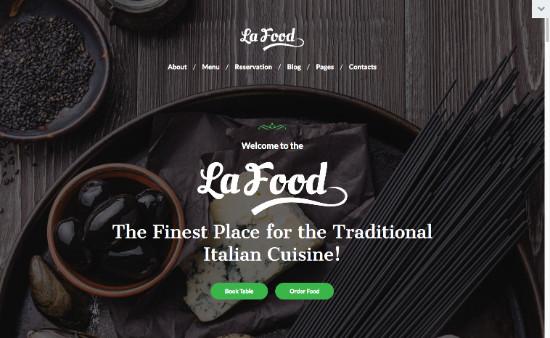 Thème WordPress pour site de cuisine