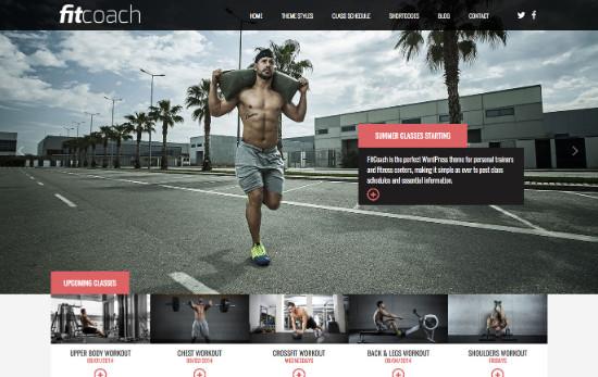 Thème WordPress pour site de fitness