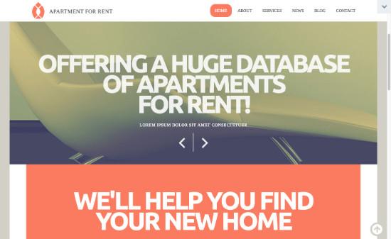 Thème WordPress pour site d'immobilier